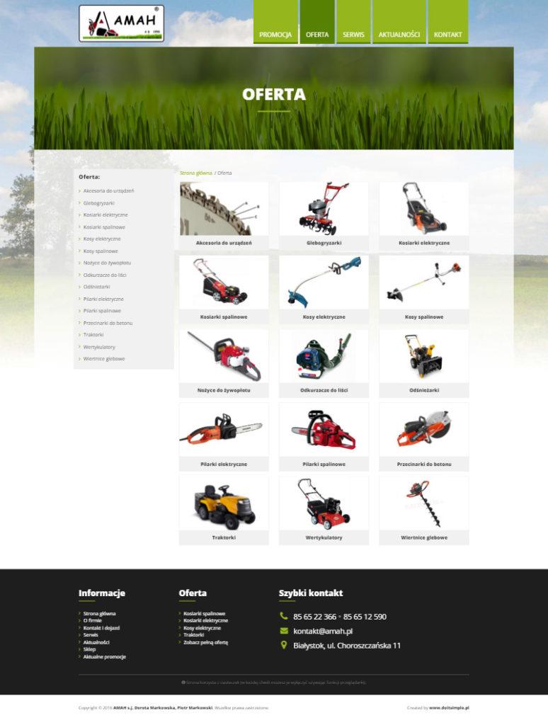 www.amah.pl - Kategorie