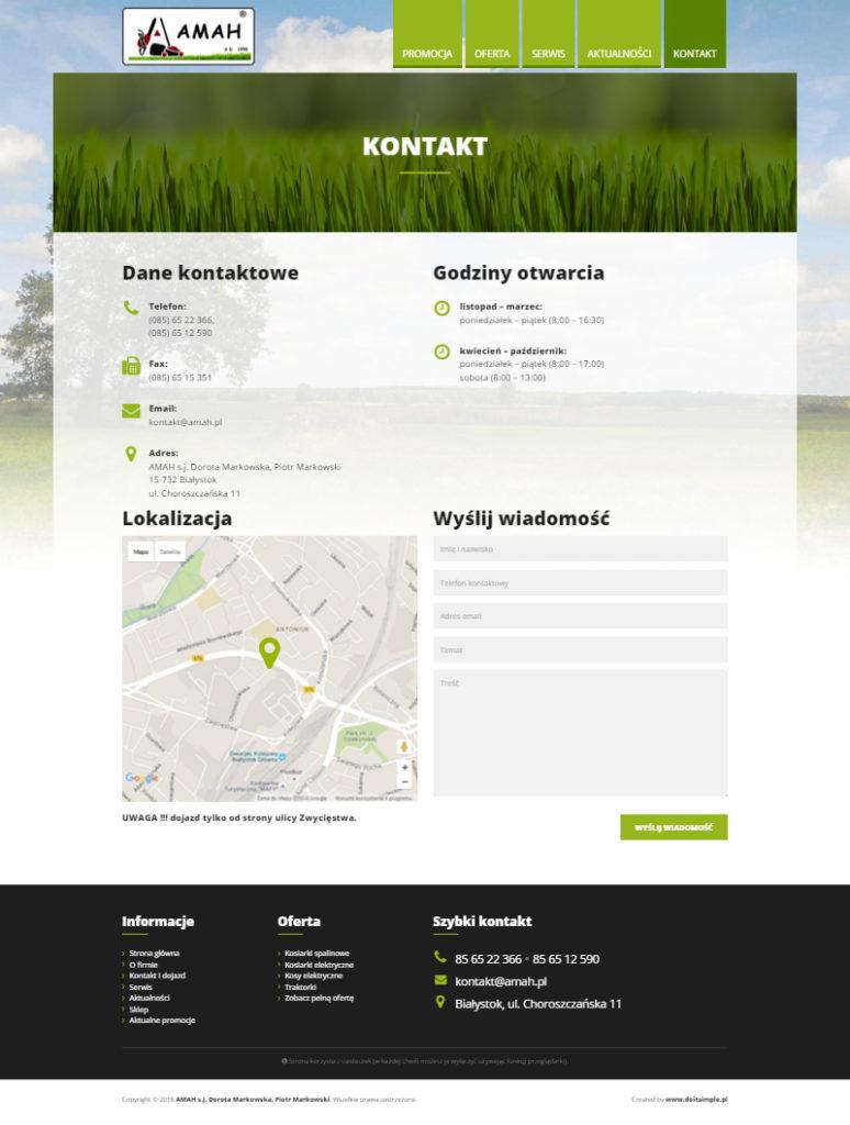 www.amah.pl - Strona kontaktowa