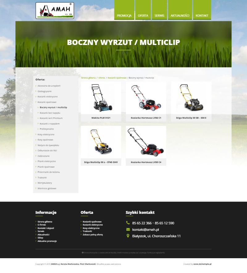 www.amah.pl - Lista produktów