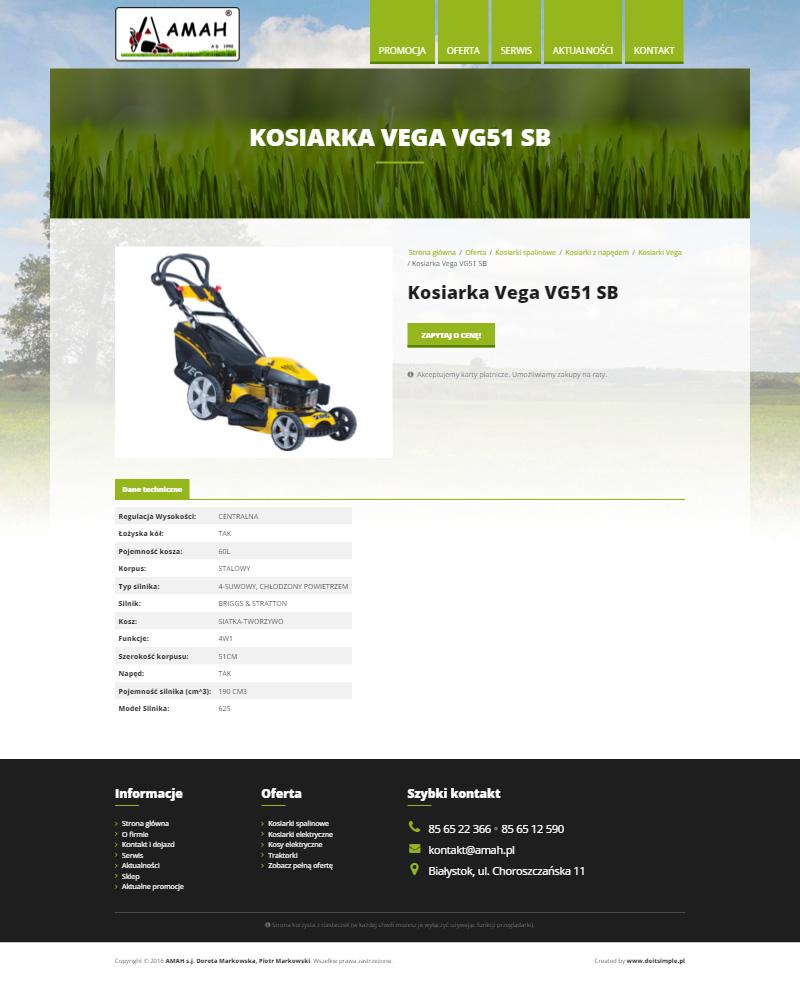 www.amah.pl - Strona produktu