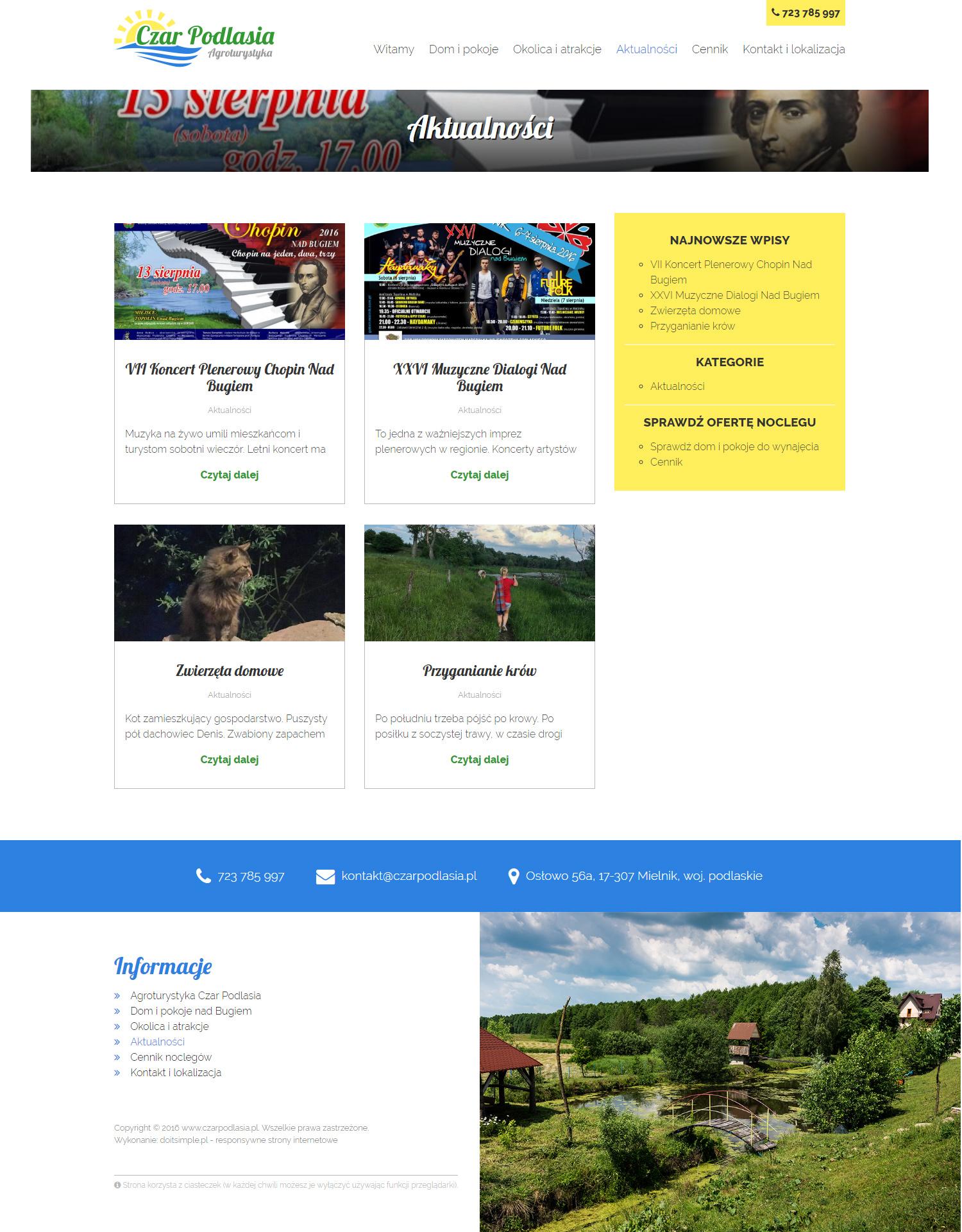 Czar Podlasia - strona internetowa